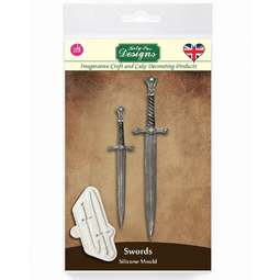 View the SWORDS silicone cake icing mould online at Cake Stuff