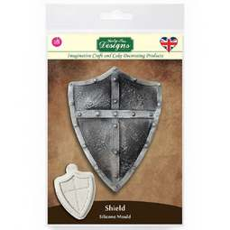 View the SHIELD silicone cake icing mould online at Cake Stuff