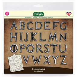 View the IRON ALPHABET silicone cake icing mould online at Cake Stuff