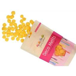 View the YELLOW Deco Melts chocolate candy buttons 250g online at Cake Stuff