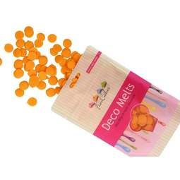 View the ORANGE Deco Melts chocolate candy buttons 250g online at Cake Stuff