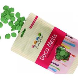 View the GREEN Deco Melts chocolate candy buttons 250g online at Cake Stuff