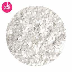 View the WHITE squares edible glitter flakes 7.08g online at Cake Stuff