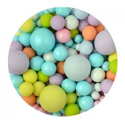 View the MULTI COLOURED BUBBLES chocolate balls cake sprinkles 100g online at Cake Stuff