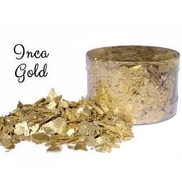View the *CLEARANCE* INCA GOLD edible sugarcraft flakes 6g online at Cake Stuff