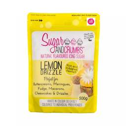 View the LEMON DRIZZLE 500g natural flavoured icing sugar online at Cake Stuff