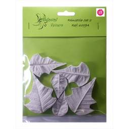 View the POINSETTIA Set #2 - 6 pc petal real flower silicone veiner set 6059A online at Cake Stuff
