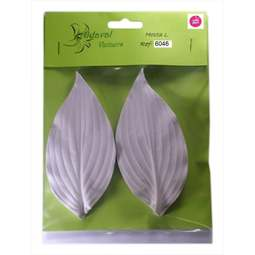 View the HOSTA M leaf petal real flower silicone veiner set 6046 online at Cake Stuff