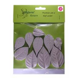 View the 10 pc FUCHSIA leaf real flower silicone veiner set 6085 online at Cake Stuff