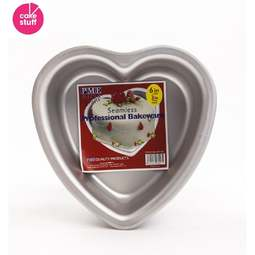 "View the 6"" / 15cm professional heart aluminium cake tin pan - 3"" deep online at Cake Stuff"
