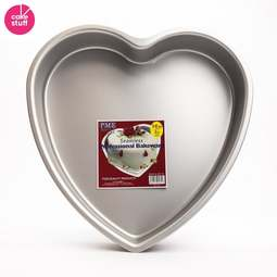 "View the 14"" / 35.5cm professional heart aluminium cake tin pan online at Cake Stuff"