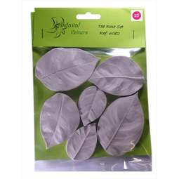 View the 6 pc TEA ROSE L leaf real flower silicone veiner set 6082 online at Cake Stuff