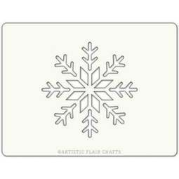 View the SNOWFLAKE GEM professional Christmas cake stencil online at Cake Stuff