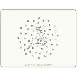 View the REINDEER IN SNOW professional Christmas cake icing stencil online at Cake Stuff