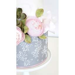 View the ETHER extra large double barrel cake icing stencil online at Cake Stuff
