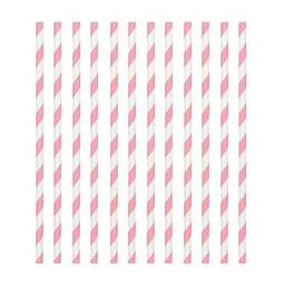 View the Pink & White candy stripe paper straws - pack 24  online at Cake Stuff