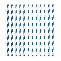 View the Royal Blue & White candy stripe paper straws - pack 24  online at Cake Stuff