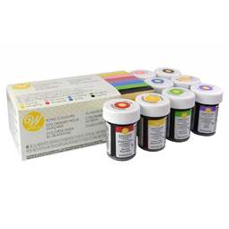 View the 8 COLOURS paste gel icing colourings set - EU set online at Cake Stuff