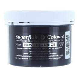 View the NEW LIQUORICE BLACK Spectral icing paste colouring BULK 400g online at Cake Stuff
