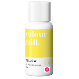 View the YELLOW oil based concentrated icing colouring 20ml online at Cake Stuff