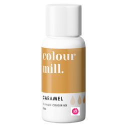 View the CARAMEL BROWN oil based concentrated icing colouring 20ml online at Cake Stuff