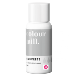 View the CONCRETE GREY oil based concentrated icing colouring 20ml online at Cake Stuff