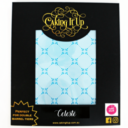 View the CELESTE large cake icing stencil by Karen Reeves online at Cake Stuff