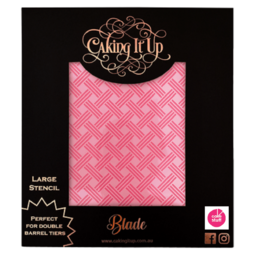 View the BLADE large cake icing stencil by Karen Reeves online at Cake Stuff