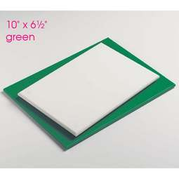 "View the 10"" x 6½"" GREEN non-stick modelling work board online at Cake Stuff"