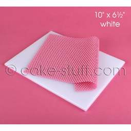 """View the 10"""" x 6½"""" WHITE non-stick modelling work board online at Cake Stuff"""