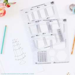 View the Cake & Cookie Planner HEXAGONS cake sketching templates online at Cake Stuff