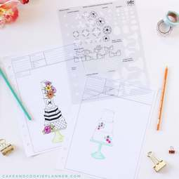View the Cake & Cookie Planner ELEMENTS cake sketching templates online at Cake Stuff