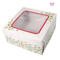 "View the pk 5 - 10"" Christmas cake window transportation box online at Cake Stuff"