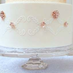 View the Alexandria Lace Band professional cake stencil #10 by Suzanne Esper online at Cake Stuff