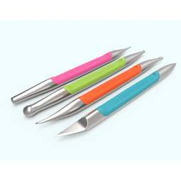 View the set of 4 professional stainless steel modelling tools online at Cake Stuff