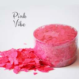 View the VIVID PINK VIBE pearl edible sugarcraft flakes 6g online at Cake Stuff