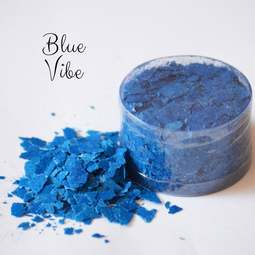 View the VIVID BLUE VIBE edible sugarcraft flakes 6g online at Cake Stuff