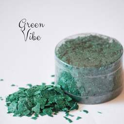 View the *CLEARANCE* GREEN VIBE edible sugarcraft flakes 6g online at Cake Stuff
