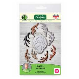 View the SMALL ANTLERS silicone icing mould - Nicholas Lodge online at Cake Stuff