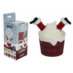 View the SANTA Cup Kit - complete Christmas cupcake kit online at Cake Stuff
