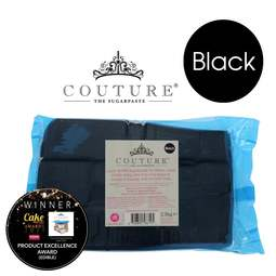View the 2.5kg / 5½lb BLACK luxury sugarpaste ready to roll fondant icing online at Cake Stuff