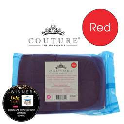 View the 2.5kg / 5½lb RED luxury sugarpaste ready to roll fondant icing online at Cake Stuff