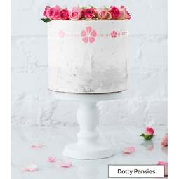 View the DOTTY PANSIES border cake icing stencil by Lissie Lou online at Cake Stuff