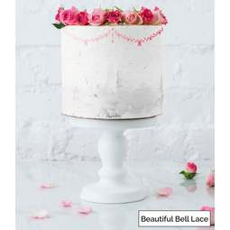 View the BEAUTIFUL BELL LACE border cake icing stencil by Lissie Lou online at Cake Stuff