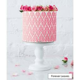 View the FOREVER LEAVES full size cake icing stencil by Lissie Lou online at Cake Stuff
