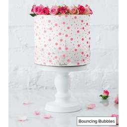 View the BOUNCING BUBBLES full size cake icing stencil by Lissie Lou online at Cake Stuff