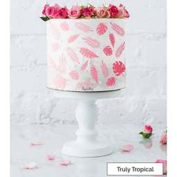 View the TRULY TROPICAL full size cake icing stencil by Lissie Lou online at Cake Stuff
