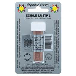 View the BLUSH ROSE GOLD Edible Lustre dusting icing colour 2g online at Cake Stuff