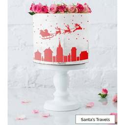 View the SANTA'S TRAVELS full size cake icing stencil by Lissie Lou online at Cake Stuff