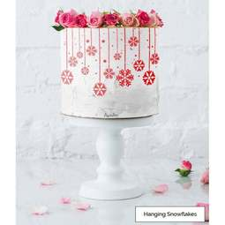 View the HANGING SNOWFLAKES full size cake icing stencil by Lissie Lou online at Cake Stuff